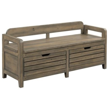 Engold Solid Wood Bed End Bench with Storage