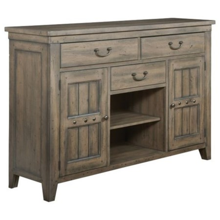 Ellis Solid Wood Buffet with Silverware Tray