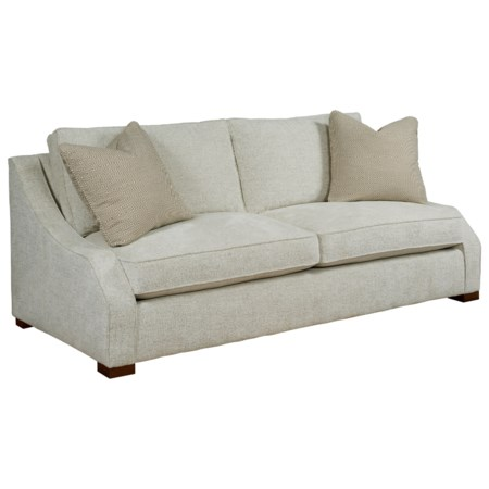 Two Cushion Sofa with Sloping Track Arms