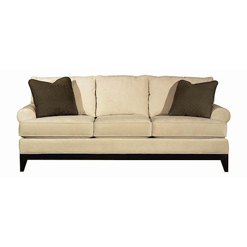 Kincaid furniture sonoma transitional sofa with wood base for Furniture 500 companies