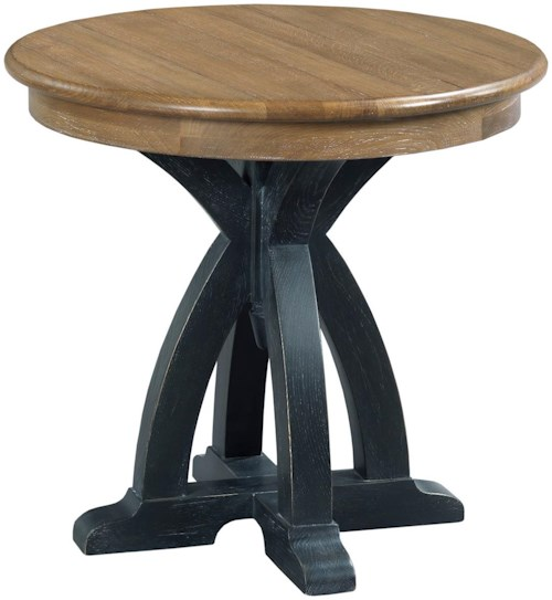Kincaid furniture stone ridge 72 021 round wood end table for Furniture 0 percent financing