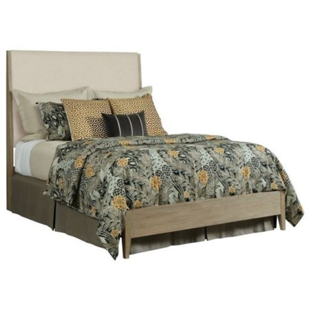 Contemporary Incline Solid Wood Queen Upholstered Bed