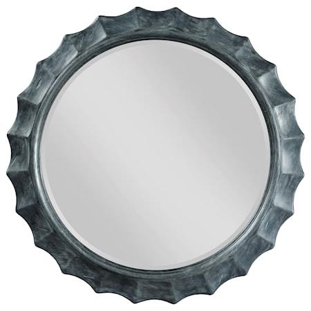 Sapphire Scalloped Mirror