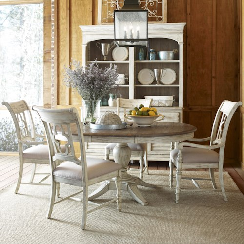 Kincaid Furniture Weatherford 5 Piece Dining Set With