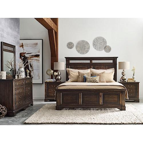 Kincaid furniture wildfire queen bedroom group belfort for Bedroom groups