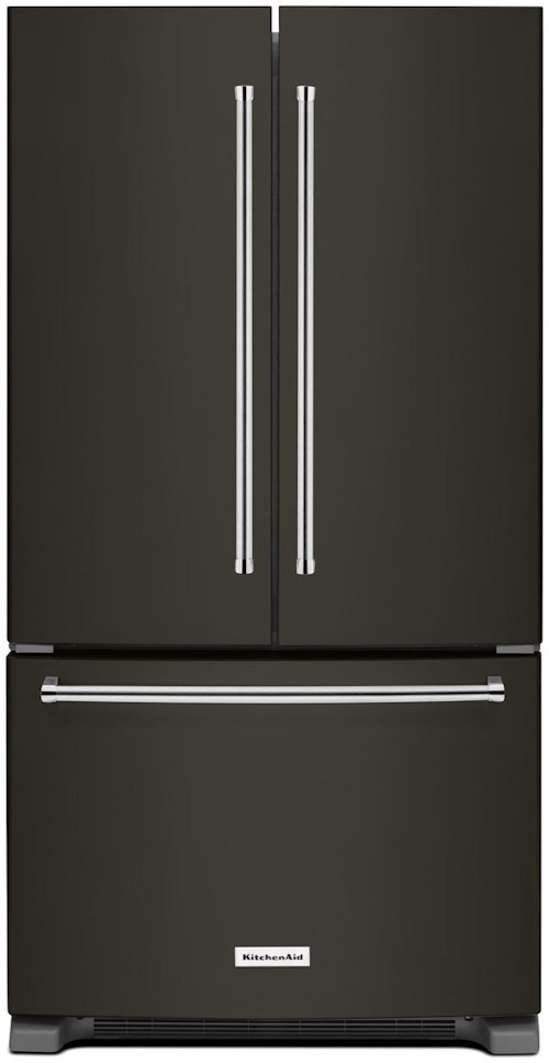 Kitchenaid 20 Cu Ft 36 Inch Width Counter Depth French Door Refrigerator With Interior