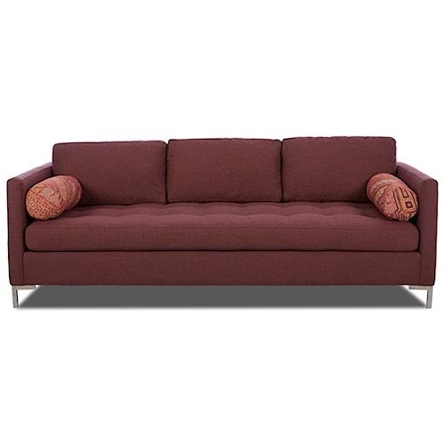 Klaussner Uptown Klaussner Tufted Seat Contemporary Sofa Pilgrim Furniture City Sofas