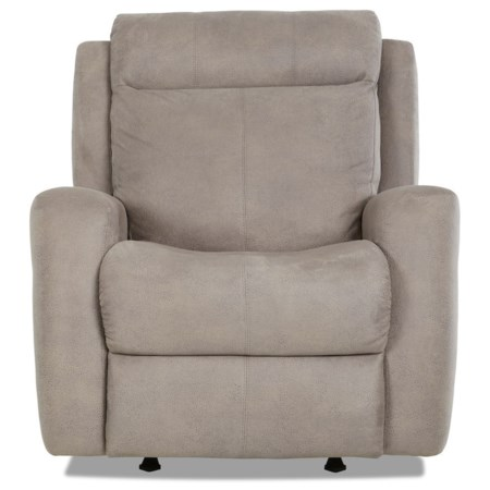 Contemporary Power Reclining Chair with Power Headrest/Lumabr and USB Port