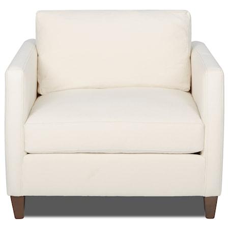 Chair with Down Blend Cushions