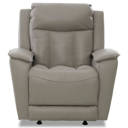Contemporary Power Rocking Reclining Chair with USB Port