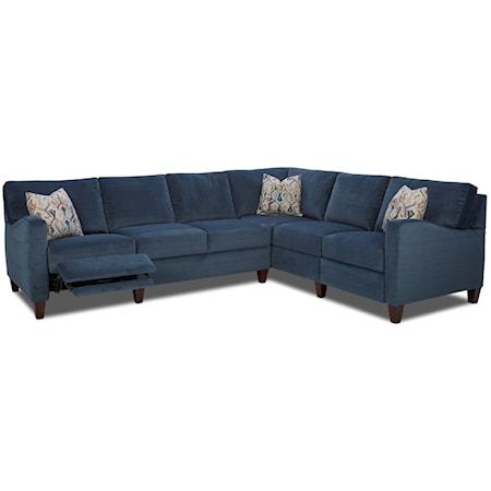 Hybrid Reclining Sectional with RAF Corner Sofa
