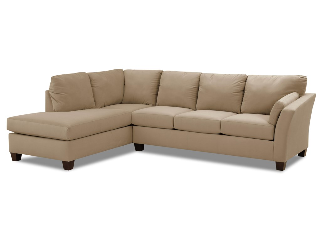 Preferred Klaussner Drew Two Piece Sectional Sofa With Chaise | Value City  WF56