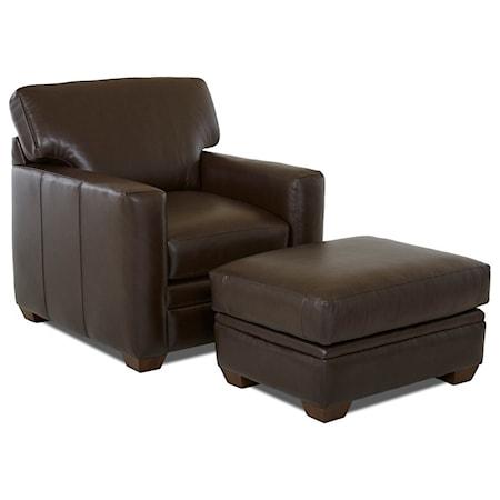 Contemporary Chair & Ottoman Set