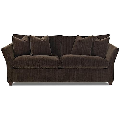 Klaussner fifi contemporary sofa pilgrim furniture city for Furniture 0 down