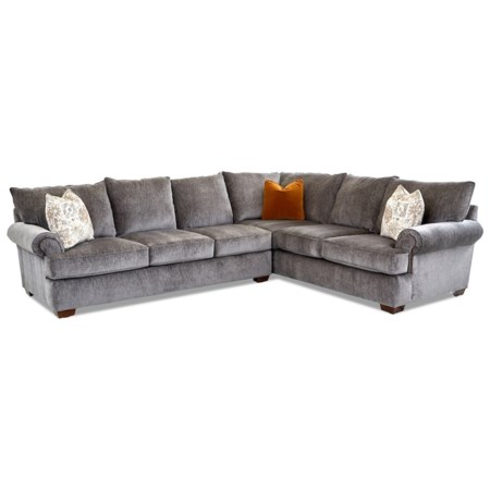 Traditional 5-Seat Sectional Sofa with LAF Sofa
