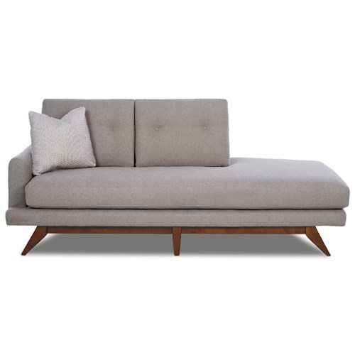 Klaussner Haley Mid Century Modern Left Arm Facing Chaise