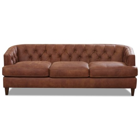 Tufted Contemporary Leather Sofa