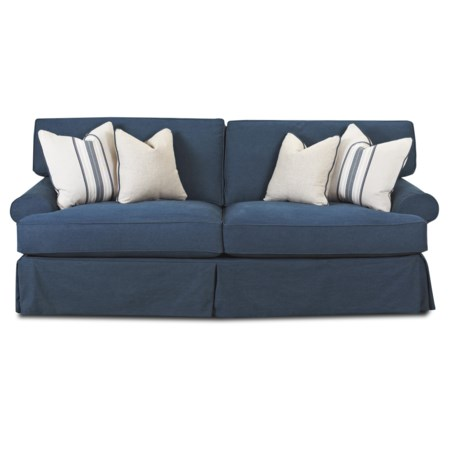 Air Dream Sleeper Sofa with Blend Down Cushions and 4 Toss Pillows