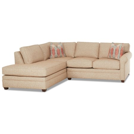 Casual 2-Piece Sectional Sofa with LAF Sofa Chaise