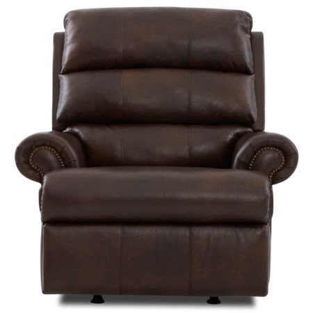 Power Reclining Chair with Nailheads, USB Charging Port, Power Headrest