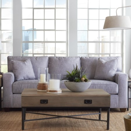Contemporary 3-Seat Sleeper Sofa with Enso Memory Foam Mattress