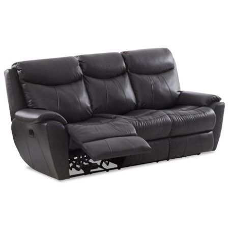 Casual Power Reclining Sofa with Kool Gel Cushions & USB Ports