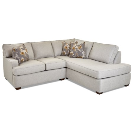 Contemporary 2-Piece Chaise Sofa w/ RAF Chaise