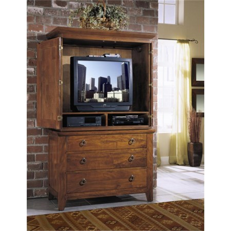 TV Armoire with 3 Drawers and 2 Media Compartments