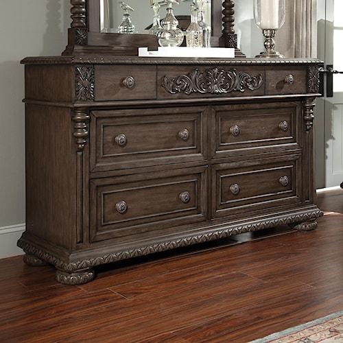 Klaussner International Versailles 6 Drawer Dresser With