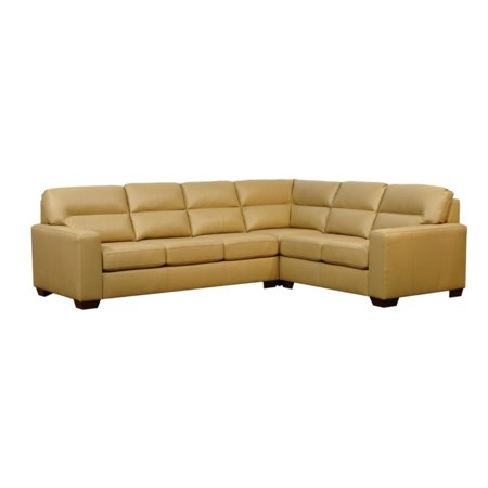 Knife Edge Split Back Florence Sectional w/ Classic Seat