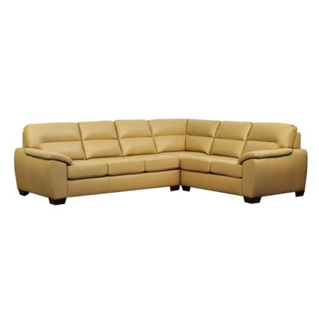 Knife Edge Classic Back Joycey Sectional w/ Classic Seat