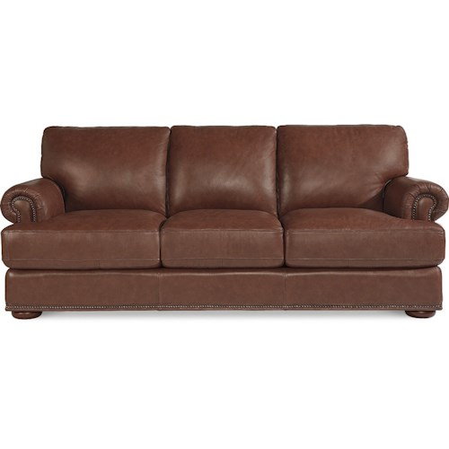 La z boy andrew traditional sofa with nailhead trim for Furniture 500 companies