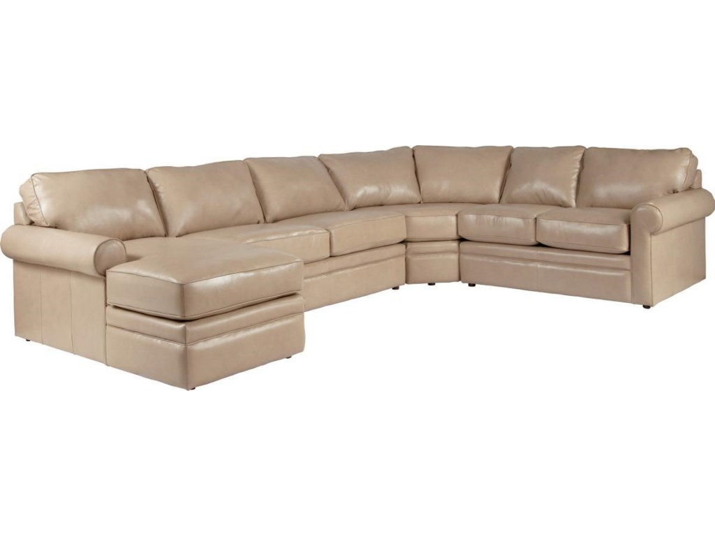 La Z Boy Collins Sectional Sleeper Sofa With Full Mattress