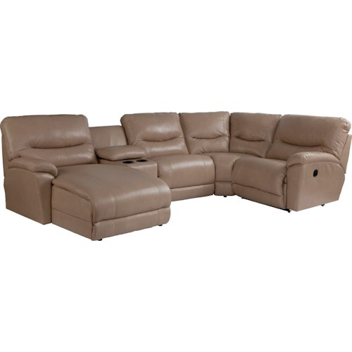 La z boy dawson casual five piece reclining sectional sofa for 5 pc sectional sofas