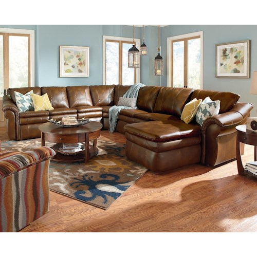 La z boy devon 5 piece sectional with las chaise and 2 for 5 piece reclining sectional sofa