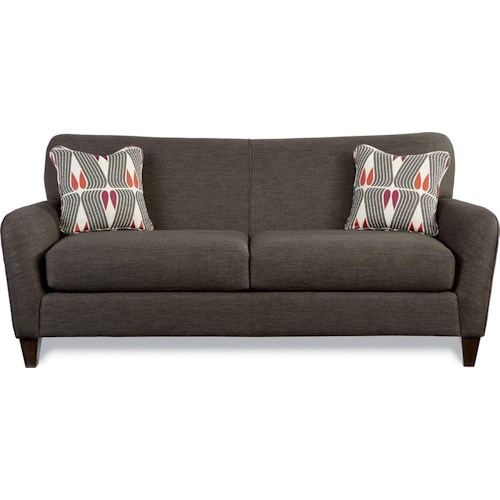 La Z Boy Dolce Premier Contemporary Sofa With Tapered Wood