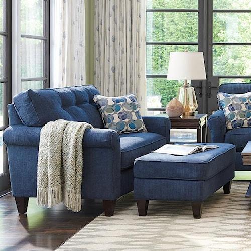 la z boy laurel oversized chair and ottoman set. Black Bedroom Furniture Sets. Home Design Ideas