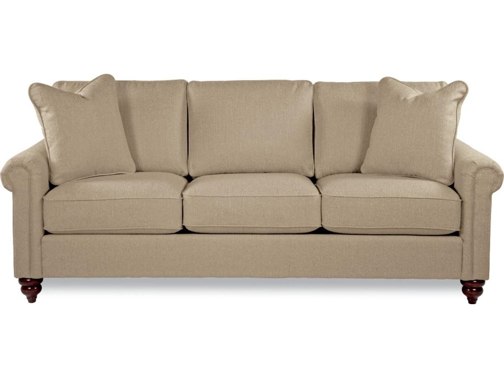 Traditional rolled arm sofa fairfield sofa accents curved for Traditional sofa