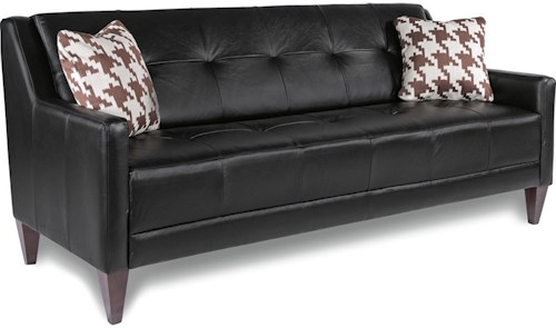 La z boy verve mid century modern sofa with tufting reid 39 s furniture sofa thunder bay Home furniture port arthur hours