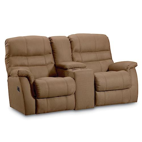 Lane garrett casual garrett double reclining console for Furniture 0 down