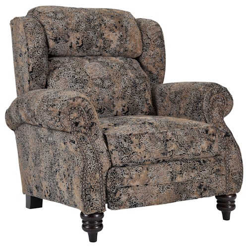 Lane Norwich High Leg Power Recliner With Rolled Arms