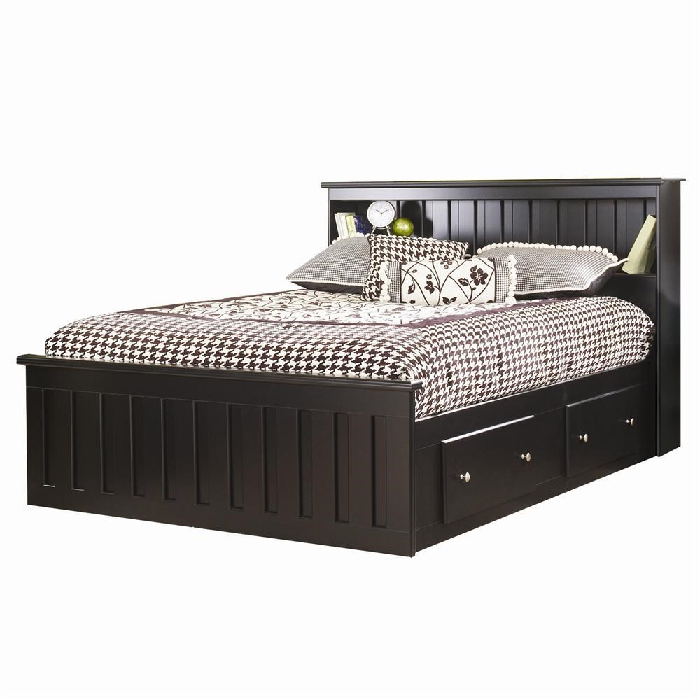 Columbia Full Bookcase Captains Bed