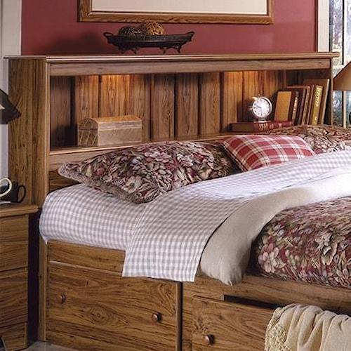 lang shaker full queen bookcase headboard with lights a1 furniture mattress headboard. Black Bedroom Furniture Sets. Home Design Ideas