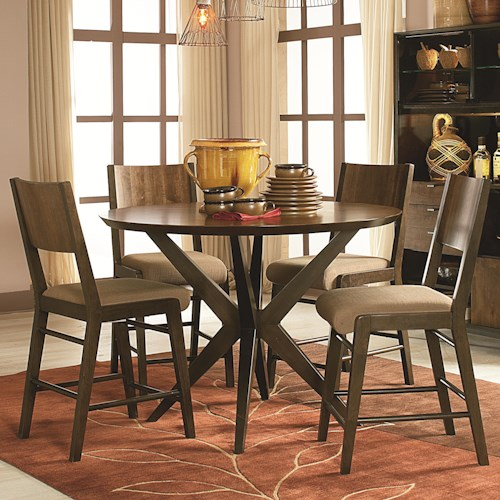 Legacy classic kateri 5 piece pub table and pub chairs set for Legacy classic dining room furniture