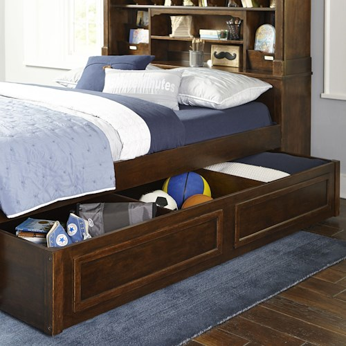 Legacy Classic Kids Big Sur By Wendy Bellissimo Full Bookcase Bed With Trundle Storage Drawer