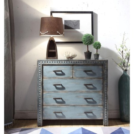 Transitional Accent Chest with 5 Drawers