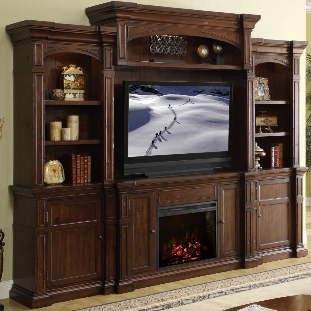 Shop for the Legends Furniture Berkshire  Fireplace Console Wall System at Hudson