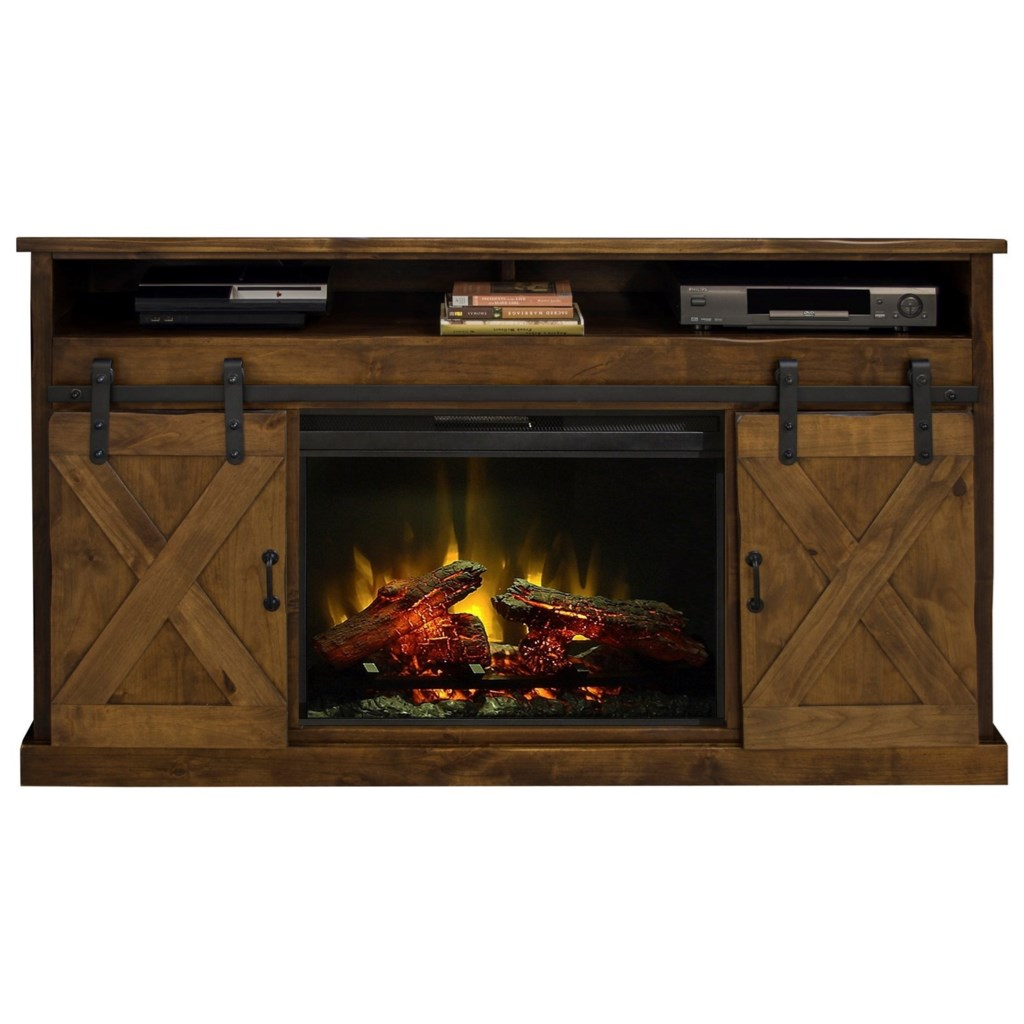 "Shop for the Legends Furniture Farmhouse Collection 66"" Fireplace Console at Hudson"