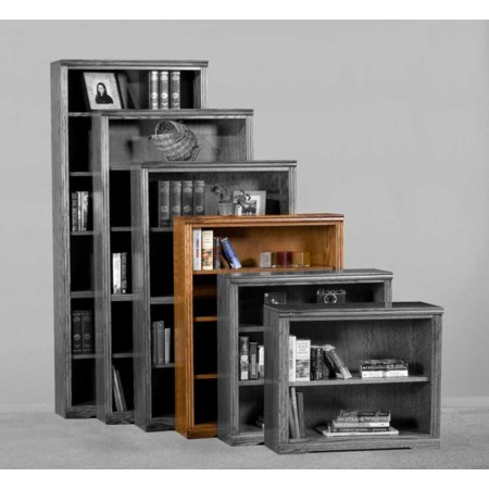 Bookcase With Adjustable Three Shelves