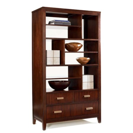 Beekman Two-Sided Bookcase with 9 Drawers and 3 Drawers